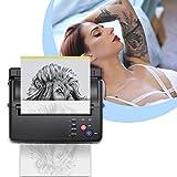 TTLIFE Máquina de transferencia de tatuajes, impresora de tatuajes con 500 patrones digitales y...
